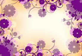 purple flowers floral background drawing