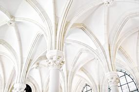 design of beautiful white Arches in Building