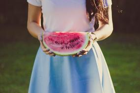 Watermelon Fruit and girl