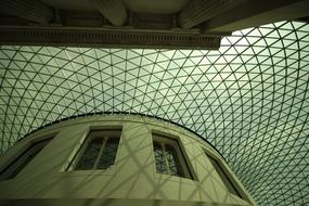 glass roof at the British Museum in London