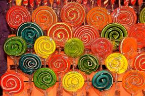 lollipops forms colors drawing