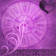 background scrapbooking paper clock drawing