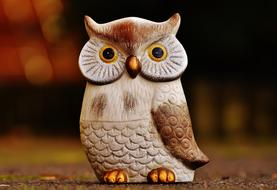 Owl Bird Funny caramic decoration