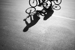 Shadows Person bike