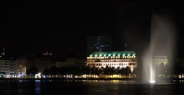wonderful Hamburg lights and Alster Water