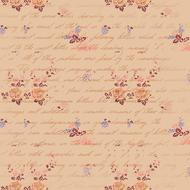 scrapbooking paper pink flowers drawing