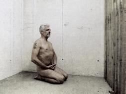 Meditation Zen nude person