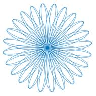 spirograph pattern circle design blue