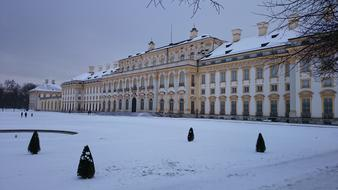 palace in winter in Munich, Germany