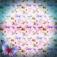 background scrapbooking paper butterflies drawing