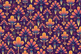 abstract background floral pattern colors