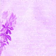 scrapbooking paper violet flowres drawing