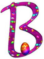 alphabet letter initial easter b drawing