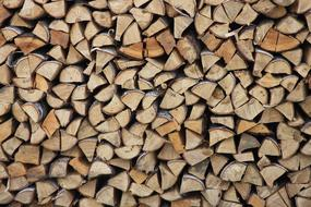 folded triangular firewood