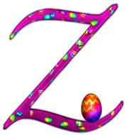 alphabet letter initial easter z drawing