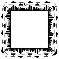 abstract black and white frame