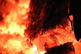 Fire Log Heat hot