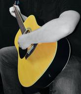 Guitar Acoustic yellow