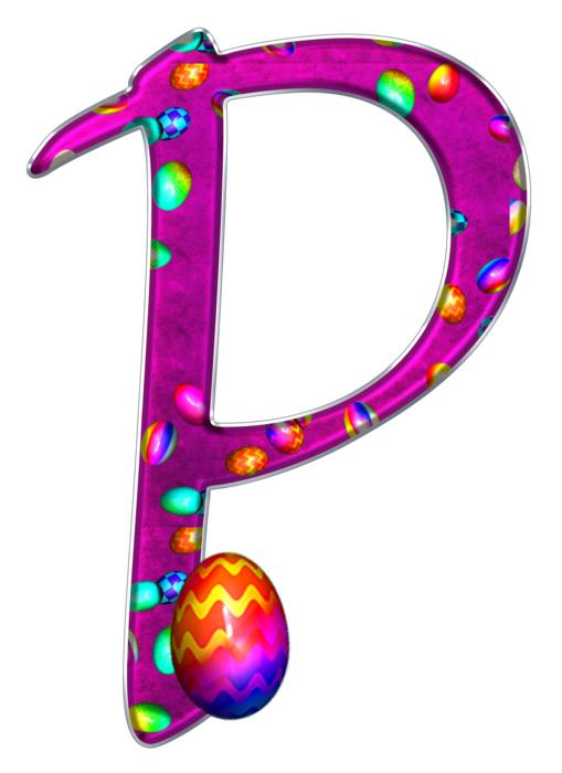 alphabet letter initial easter p drawing