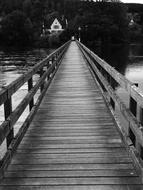 Wooden Bridge Water monochrome