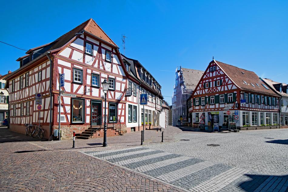 impressively beautiful Seligenstadt Hesse Germany