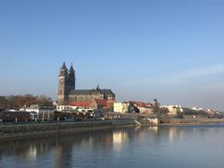very beautiful Magdeburg Elbe