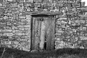 Door Old Arc black and white
