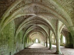 arches of a gothic medieval monastery