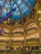 rich interior of Galeries Lafayette