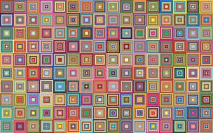 squares abstract geometric colors
