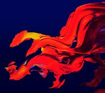 Flames Red oil Painting