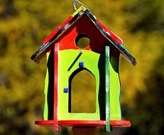 Bird Feeder Colorful