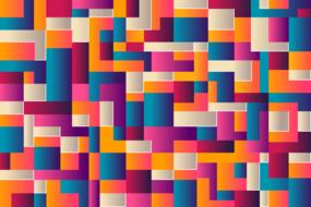 abstract background geometry blocks colors
