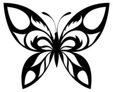 tribal butterflies drawing