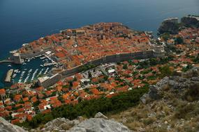 Dubrovnik View red Roofs
