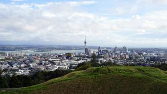 Auckland city panorama in New Zealand