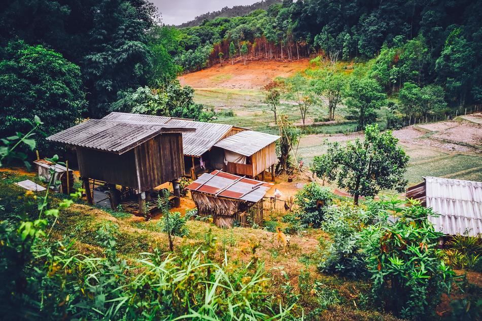 Einheitsgröße Hut Asia in Bambusoptik