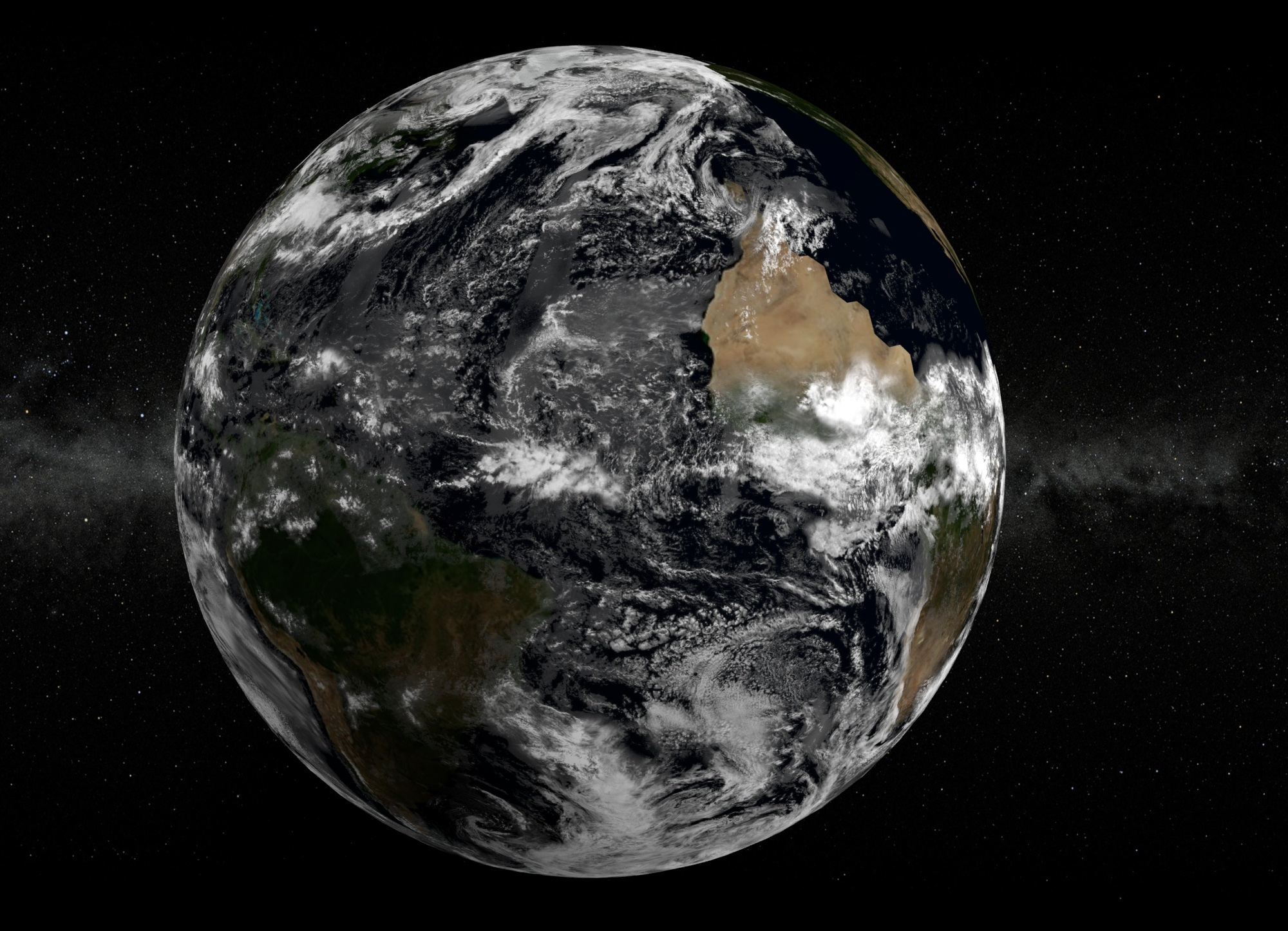 Earth Space Wallpaper Black And White Free Image