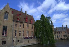 photo of buildings on the canal in Bruges, Belgium