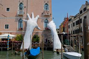 sculpture giant hands