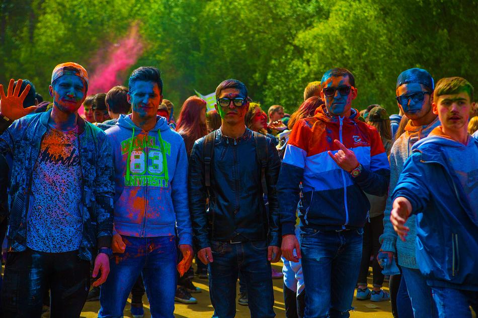 Festival Of Colors Holly blue people
