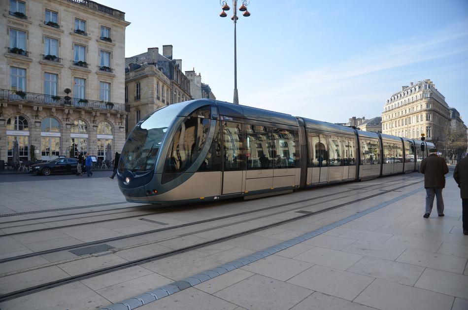 new tram in old City, france, Bordeaux