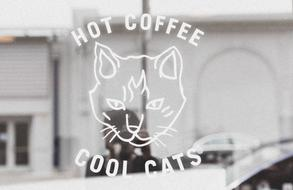 hot coffe cool cats drawing