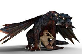 Dragon Fire and Boy 3d