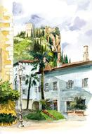 fabulous italy castle drawing