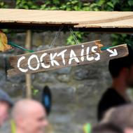 Cocktails wood sign