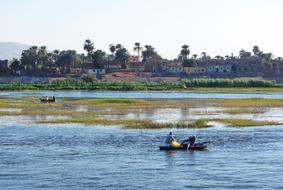 River Nile and boat