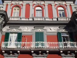 Naples Italy Colors house