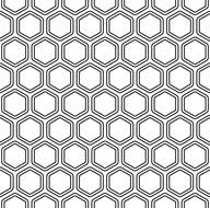 hexagon pattern black and white