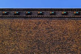 Wall Brick and blue sky